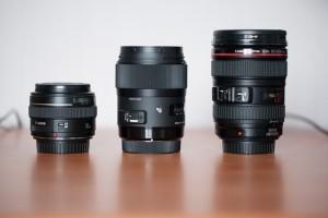 Comparaison avec le Canon 50mm f1.4 et Canon 24-105mm f4L