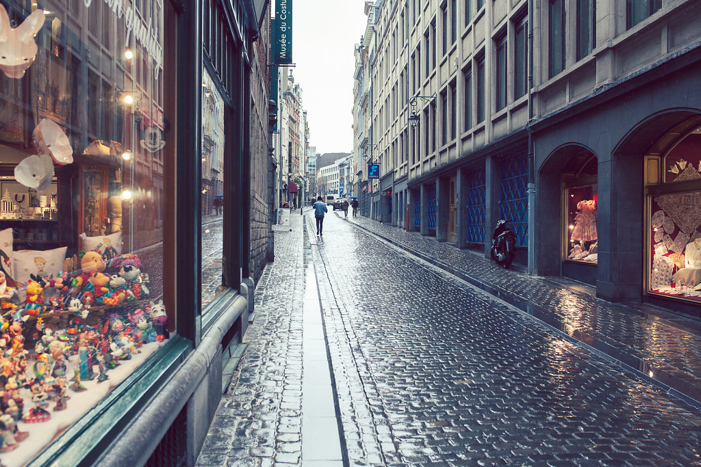 Rain in Brussels